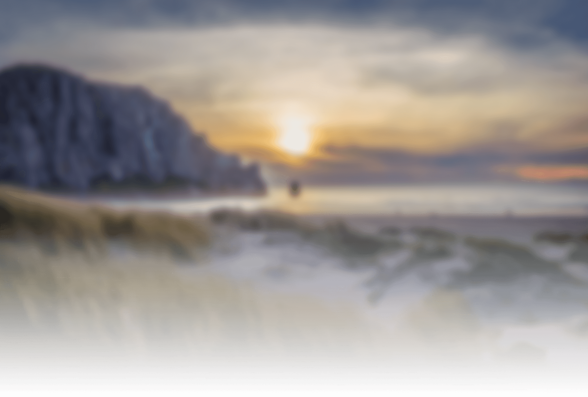 Blurred image of Morro Rock
